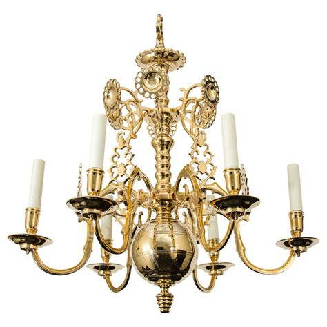 Baroque Chandelier Baroque Style Brass Chandelier With Pierced Reflectors At 1stdibs