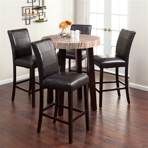 Pub Height Kitchen Table Sets Dining Room Pub Style Dining Set With Square Table Made From Teakwood With Pub Style