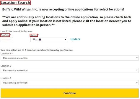 Buffalo Wings Application Process How To Apply For Buffalo Wings At