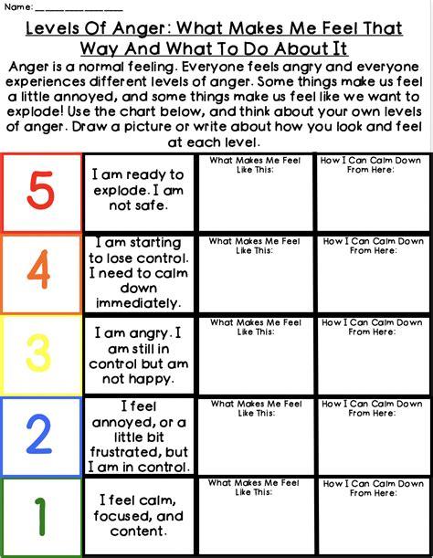 Anger Worksheets