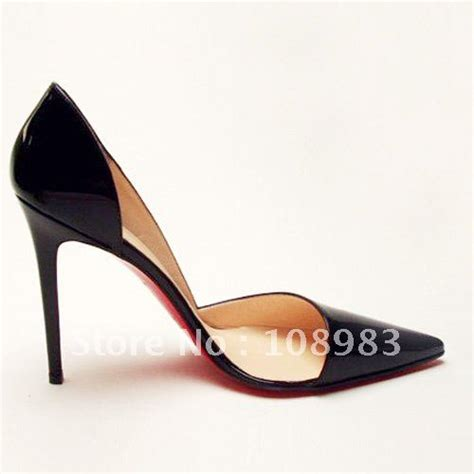 black high heel shoes with soles free shipping black patent leather shoes sole