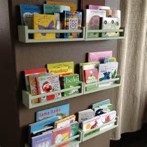 Bookshelf For Boys Room Diy Ikea Spice Rack To Children S Bookshelf Hamonious