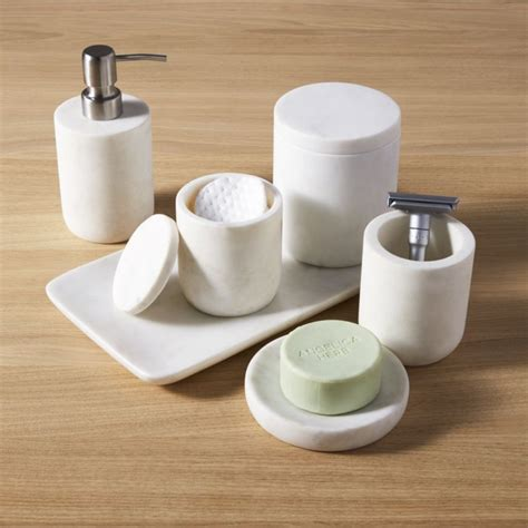 Bathroom Accessories by Marble Bath Accessories Cb2