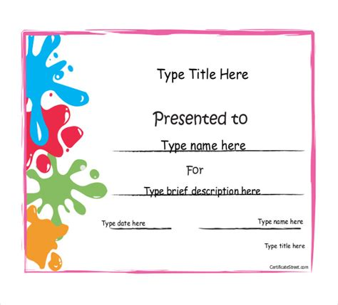 certificate templates for achievement award achievement award template 12 word pdf documents