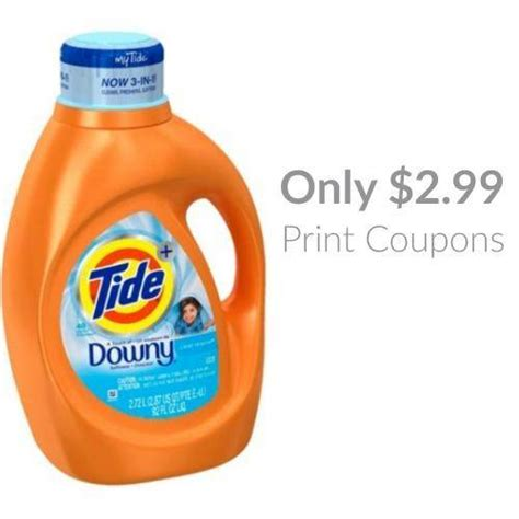 printable tide and downy coupons tide with downy detergent only 2 99 at walmart