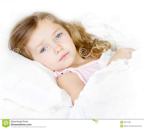 sick in bed images sick or sad child in bed royalty free stock photo image