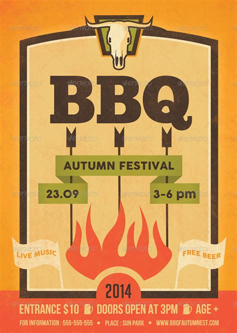 bbq flyer template barbecue flyer template by ragerabbit graphicriver