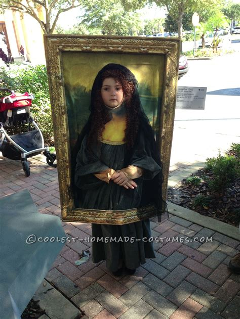 original diy costume idea mona lisa