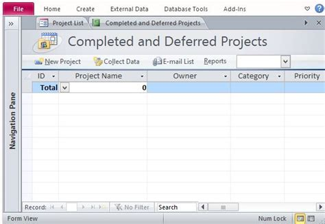 microsoft access project tracking template free project management template for access