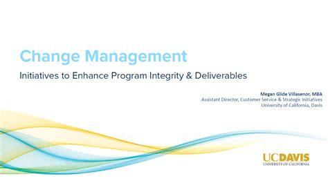 Change Management Syllabus Mba by Change Management Initiatives To Enhance Program