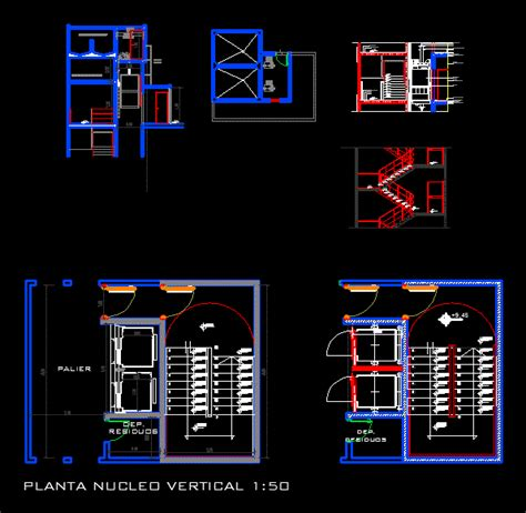 detail  core vertical ladder dwg detail  autocad