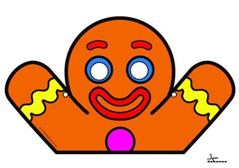 free printable gingerbread man masks printable masks for children