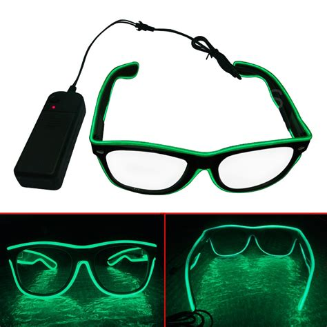 el wire led light up shutter shaped glasses for