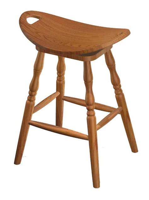 Amish Stool by Four Seasons Furnishings Amish Made Furniture Swiivel