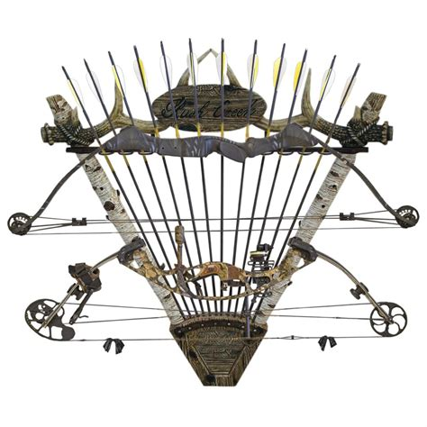 Archery Rack by Creek 2 Bow 12 Arrow Big Wall Rack 589899 Bow Cases Racks At Sportsman S Guide