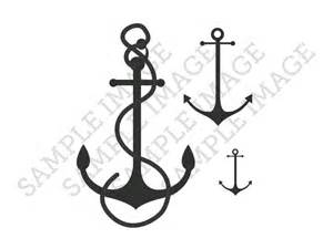 3 anchors temporary tattoos nautical ocean pirate by