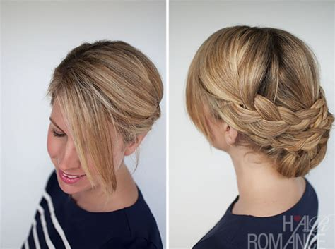 easy braided ponytail hairstyle how to hair romance hairstyle how to easy braided updo tutorial hair romance