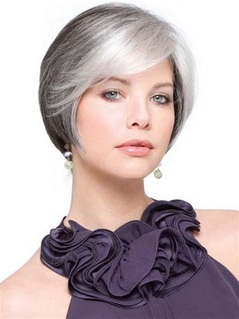 haircuts for straight grey hair short haircuts for gray hair