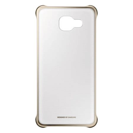Clear Cover by Official Samsung Galaxy A3 2016 Clear Cover Gold