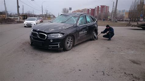 bmw x5 test drive turns into test crash carscoops