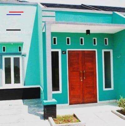 kombinasi warna hijau tosca cat rumah warna biru tosca