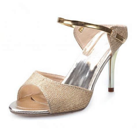 Beautiful Sandals For The by 2016 High Heels Sandals Gold Sliver Ankle Wrap