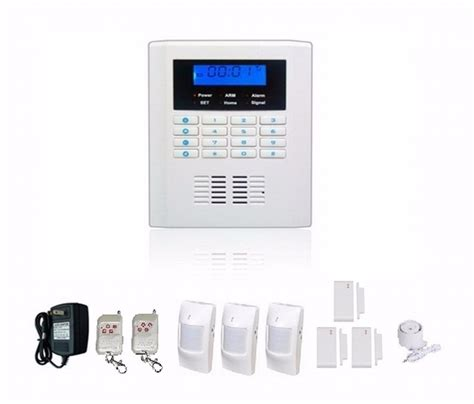 gsm and telephone dual network sms home security alarm