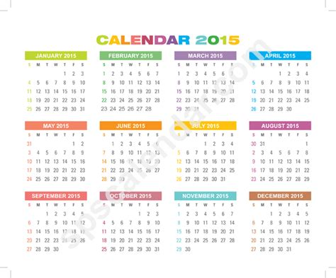printable calendar 2015 strip 2015 horizontal calendar strip bing images