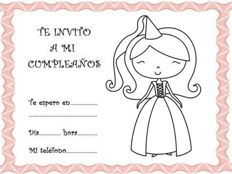 imagenes de invitaciones de cumpleaños bonitas bonitas tarjetas de invitaciones de cumplea 241 os para pintar