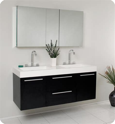 double sink cabinets bathroom 54 fresca opulento fvn8013bw black modern double sink
