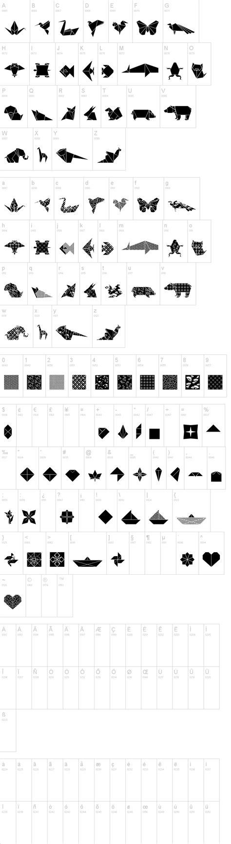 Font Origami - origami bats font dafont