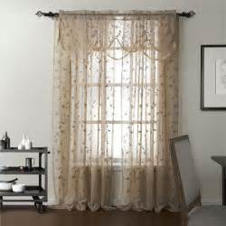 counrty floral embroidery sheer curtains on sale