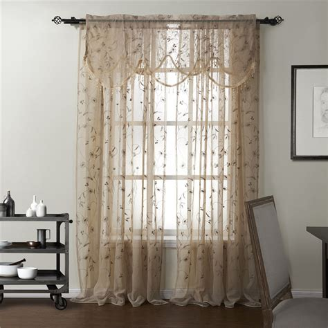 curtain sale counrty floral embroidery sheer curtains on sale