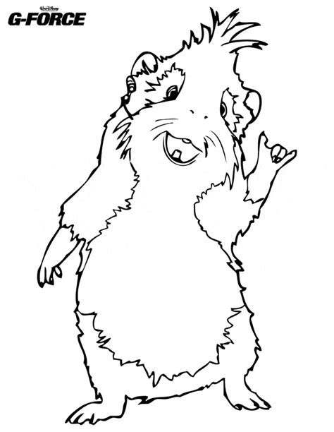 Guinea Pig Coloring Page Animals Town Animals Color Www Coloring Page