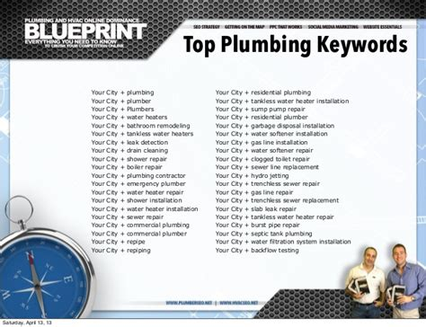 Plumbing Seo by Plumber Seo Search Engine Optimization Blueprint For