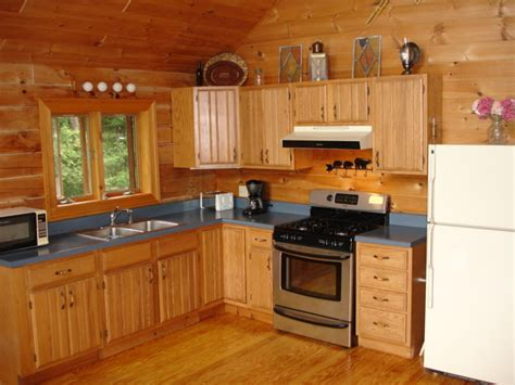 Rustic Log Cabin Plans cozy kitchen in log cabin vacation rental