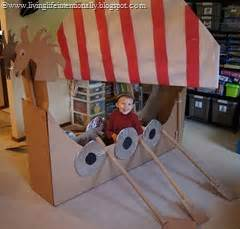 Make the vikings come alive by recreating a longship for your kids to