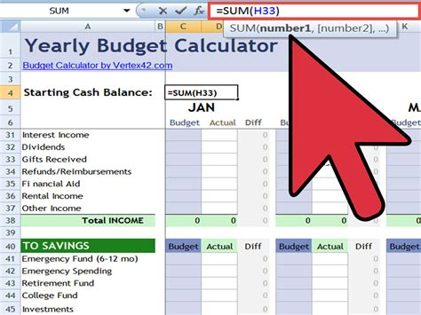 how to a calculation table in excel how to create an excel financial calculator 8 steps