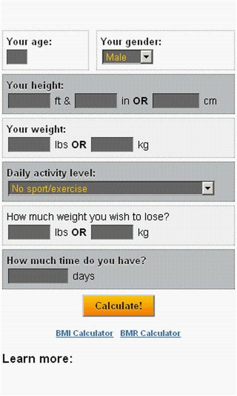 5 weight loss calculator weight loss calculator android apps on play