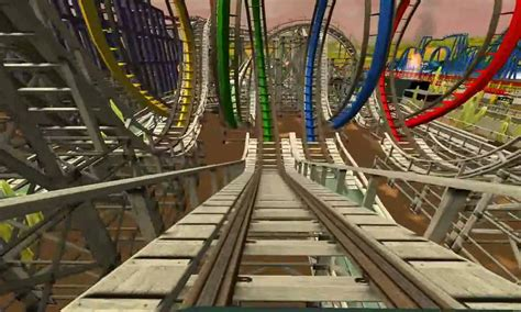 How To Make A Roller Coaster Loop Out Of Paper - looping wood roller coaster rct3