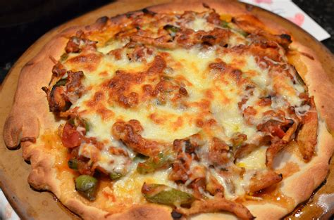 the kitchen 2012 two pizzas chicken fajita black bean mexican twice as