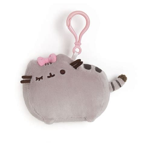 New Keychain Plush Pusheen Candycorn pusheen the cat with bow clip on backpack plush gund