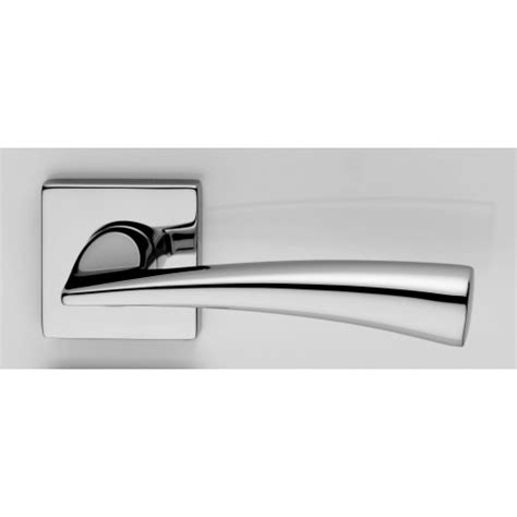 modern door handles chrome dolce dnd lever on square rose contemporary lever