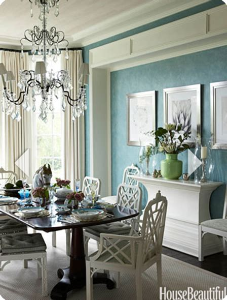 Blue and White Dining Room Table
