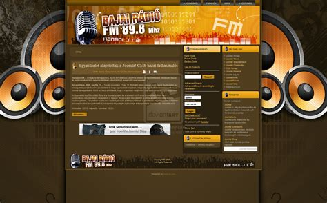 joomla web template radio st by devel00per on deviantart