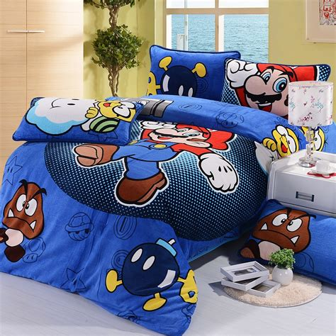 Mario Bros Bed Set Shop Popular Mario Brothers Bedding From China Aliexpress