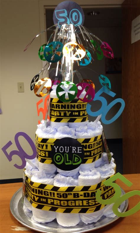 Th  Ee  Birthday Ee   Depends Diaper Cake Creations In
