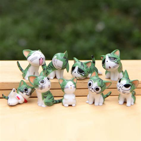 Tas Set 3 In 1 Cat 9pcs set chi s sweet home cat cats figures animal decoration figures collection model