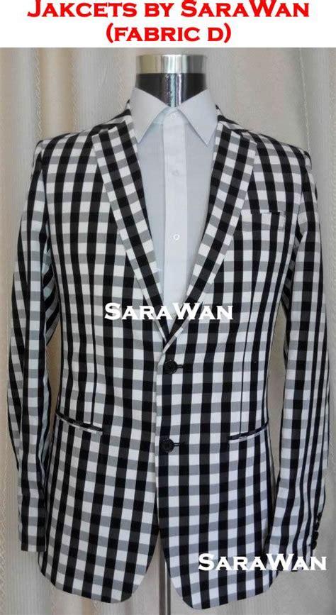 Mens Suit Jacket Runningtraining Blackwhite 100 Original mens black and white checkered blazer fashion ql