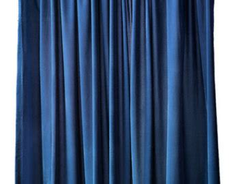 108 Inch Curtains Drapes Navy Blue Curtains Etsy